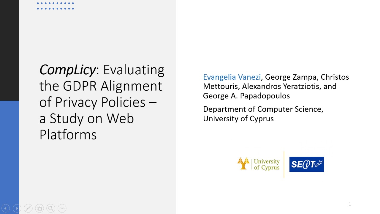 CompLicy: Evaluating the GDPR Alignment of Privacy Policies – A Study on Web Platforms