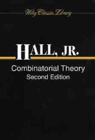 combinatorics van lint j h hall jr m
