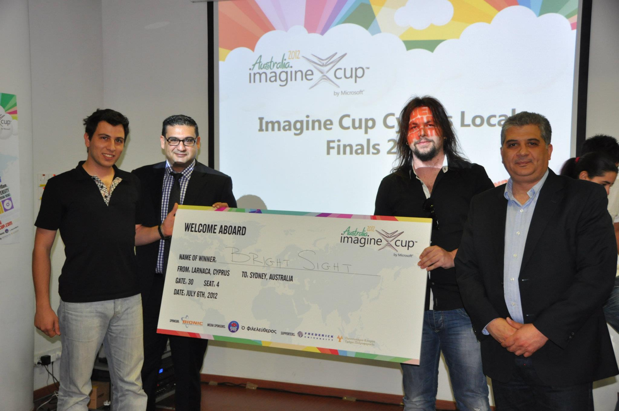 Cyprus 2nd Imagine Cup Finals 2012, 30 April 2012